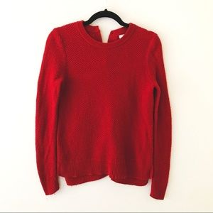 MADEWELL Red Button Back Sweater